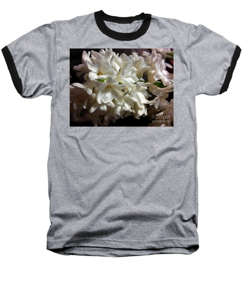 White Hyacinth Baseball T-Shirt