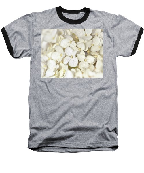 Baseball T-Shirt featuring the photograph White Hydrangea by Kerri Farley