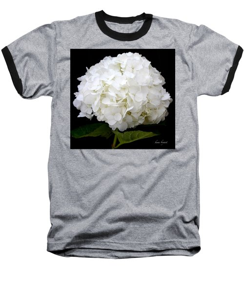 White Hydrangea Baseball T-Shirt