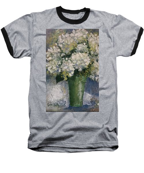 White Hydrangeas Baseball T-Shirt
