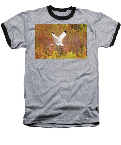 White Ibis In Hilton Head Island Baseball T-Shirt