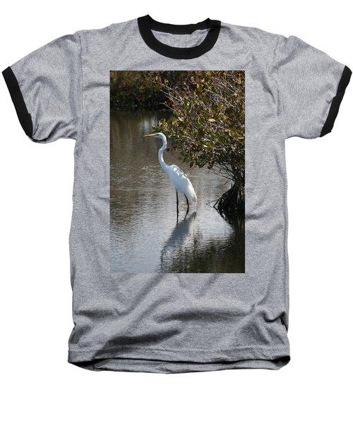Baseball T-Shirt featuring the photograph White Ibis by Kathleen Scanlan