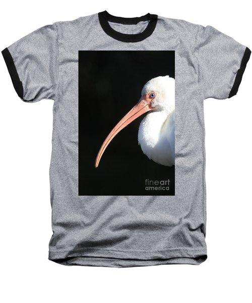 White Ibis Profile Baseball T-Shirt