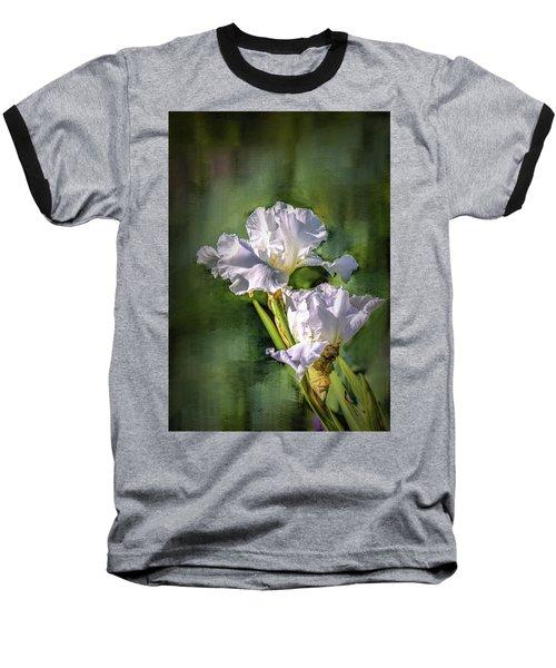 White Iris On Abstract Background #g4 Baseball T-Shirt