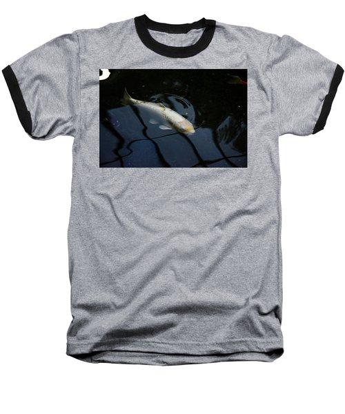 White Koi Baseball T-Shirt