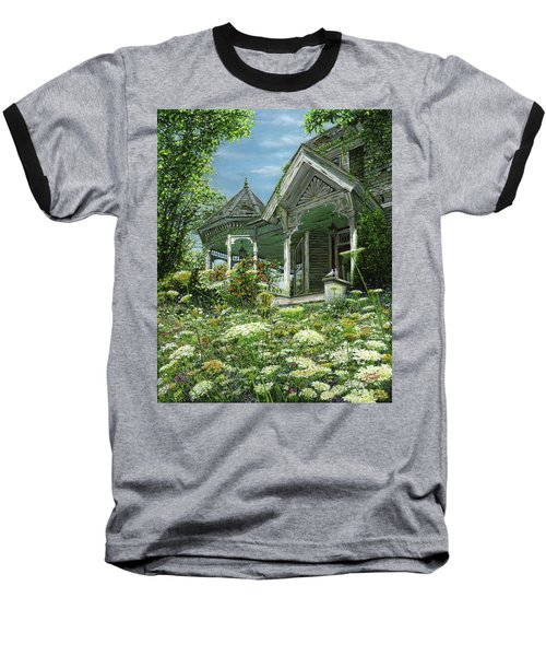 White Lace And Promises Abandoned Baseball T-Shirt by Doug Kreuger