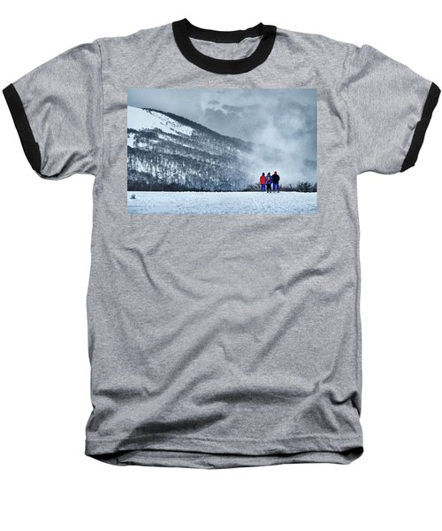 White Landscape In The Frozen Paradise In The Argentine Patagonia Baseball T-Shirt