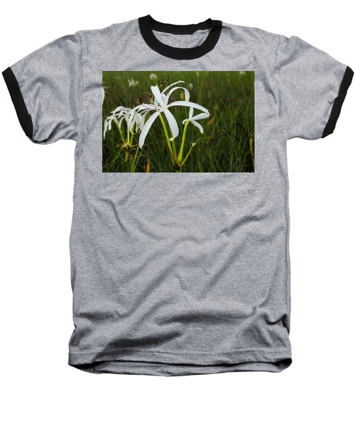 White Lilies In Bloom Baseball T-Shirt by Christopher L Thomley