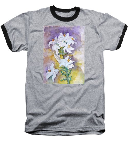 White Lilies Baseball T-Shirt