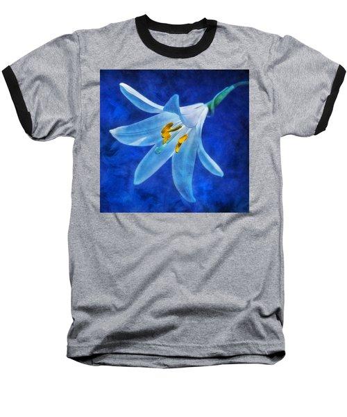 White Lilly Baseball T-Shirt by Ian Mitchell
