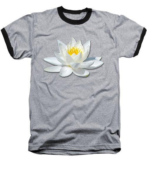 White Lily 2 Baseball T-Shirt by Bob Slitzan