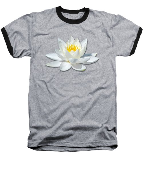 White Lily 2 Baseball T-Shirt