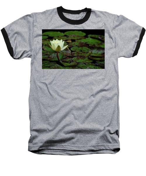 White Lily In The Pond Baseball T-Shirt