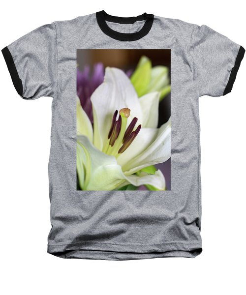 White Lily Baseball T-Shirt