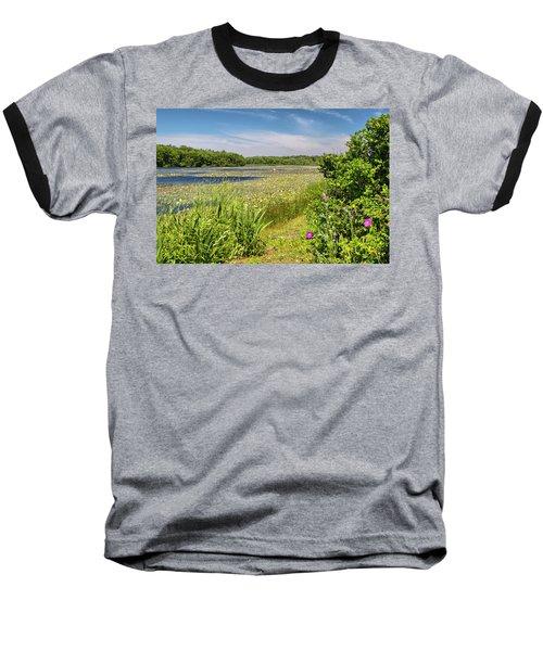White Lily Pond  Baseball T-Shirt