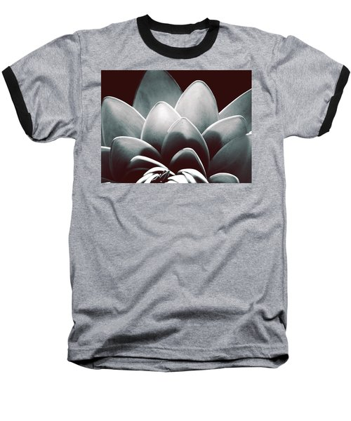 White Lotus At Dawn Baseball T-Shirt by Sumit Mehndiratta