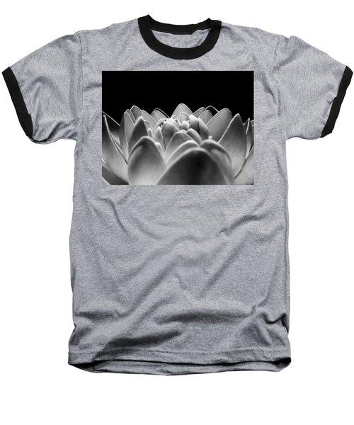 White Lotus In Night Baseball T-Shirt by Sumit Mehndiratta