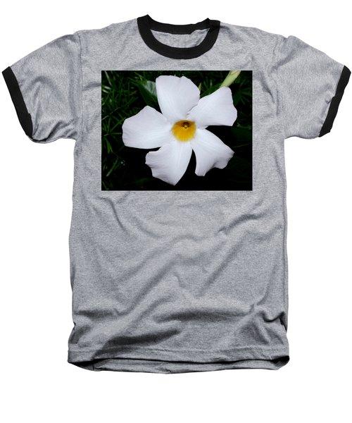 White Mandevilla Baseball T-Shirt