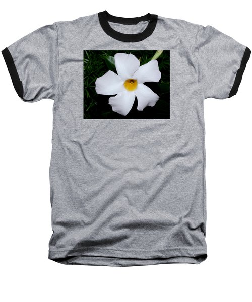 White Mandevilla Baseball T-Shirt