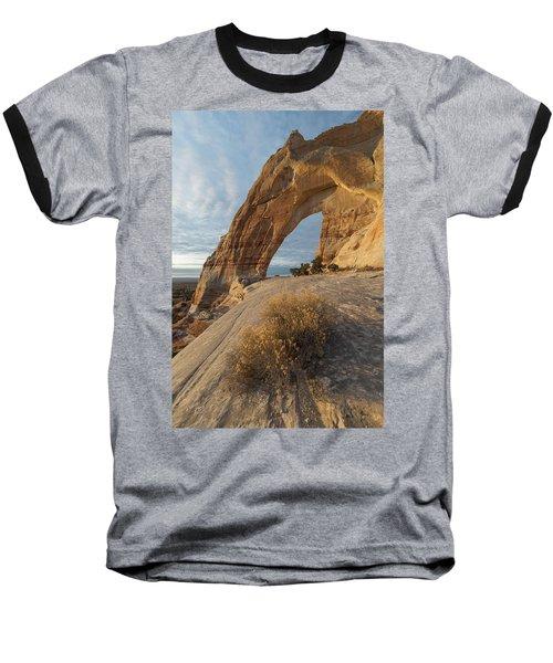 White Mesa Arch Baseball T-Shirt by Dustin LeFevre