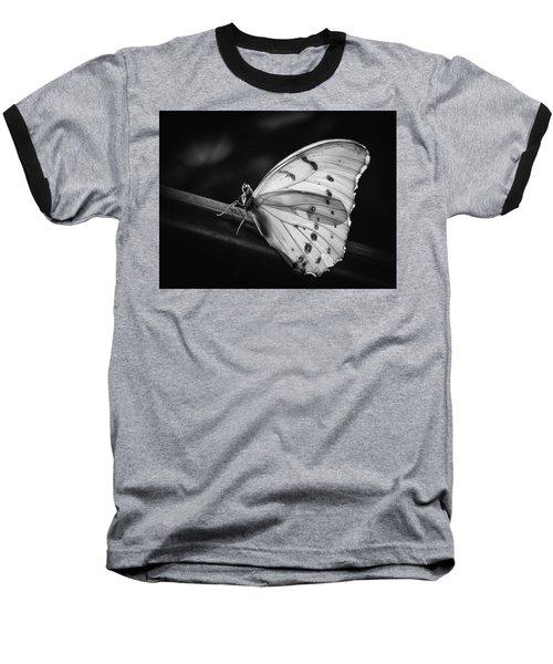 White Morpho Black And White Baseball T-Shirt