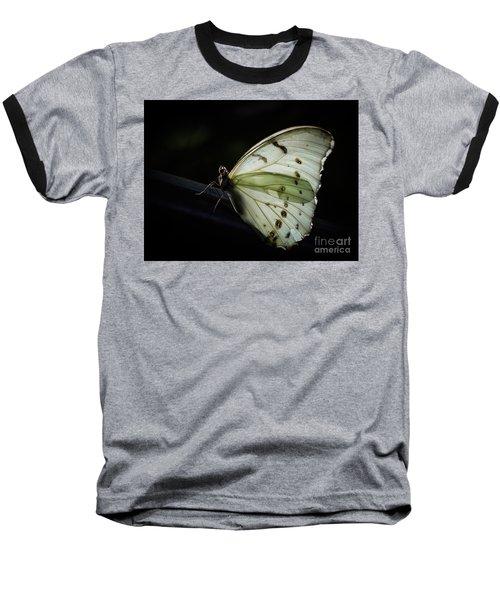 White Morpho In The Moonlight Baseball T-Shirt