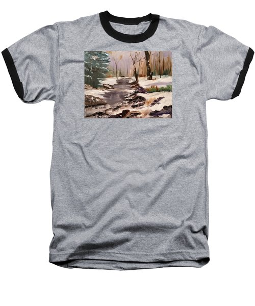 White Mountains Creek Baseball T-Shirt by Larry Hamilton