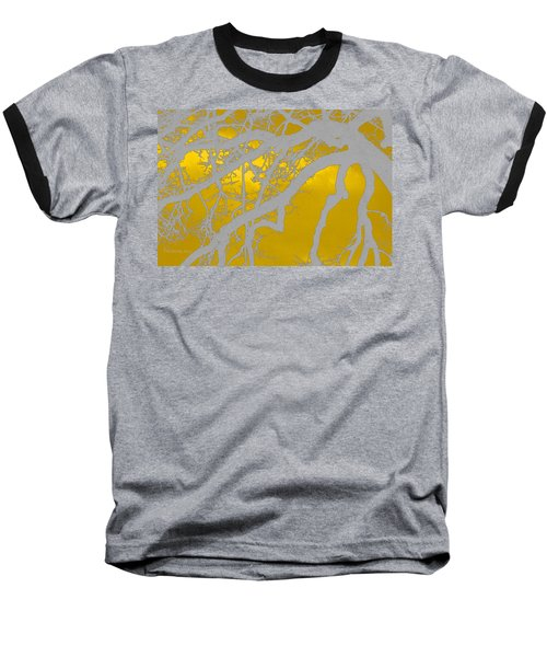 White Oak -yellow Orange Baseball T-Shirt by Tom Janca