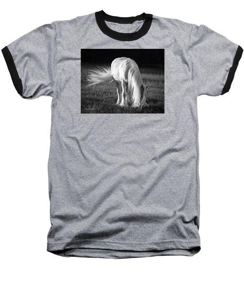 White On Black And White Baseball T-Shirt