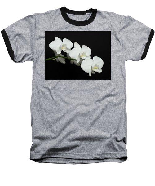 White On Black Baseball T-Shirt