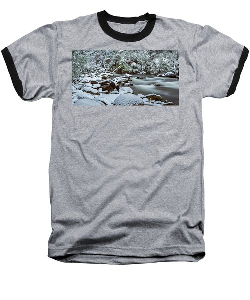 White On Green Baseball T-Shirt by Mark Lucey
