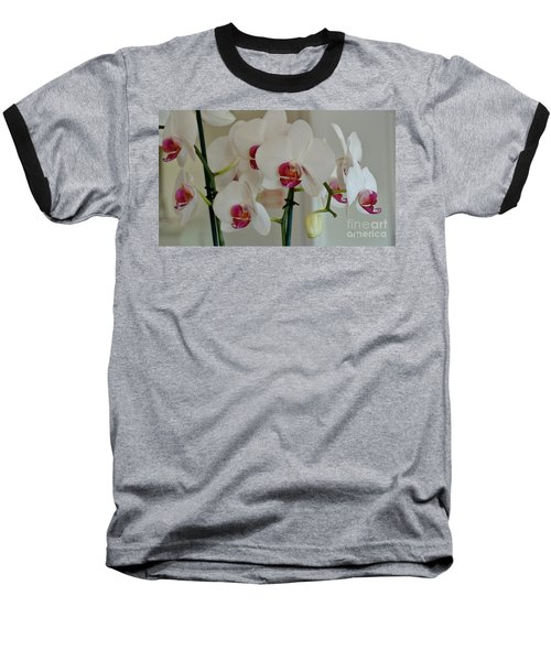 White Orchid Mothers Day Baseball T-Shirt by Marsha Heiken