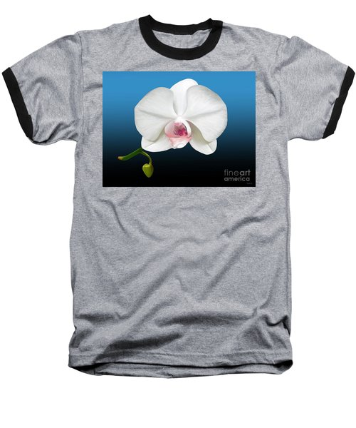 White Orchid Baseball T-Shirt by Rand Herron