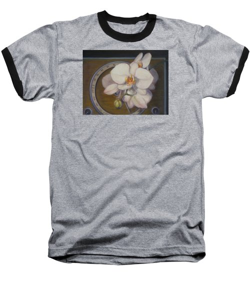 White Orchids Baseball T-Shirt by Donelli  DiMaria