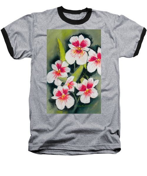 White Orchids  Baseball T-Shirt