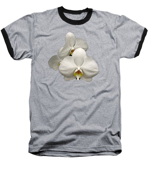 White Orchids Baseball T-Shirt by Rose Santuci-Sofranko
