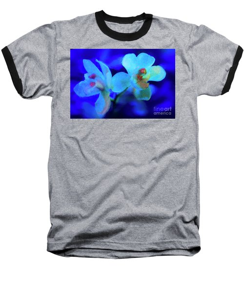 Baseball T-Shirt featuring the digital art White Painted Orchids by Darleen Stry