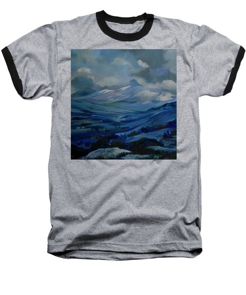 Baseball T-Shirt featuring the painting White Pass by Anna  Duyunova