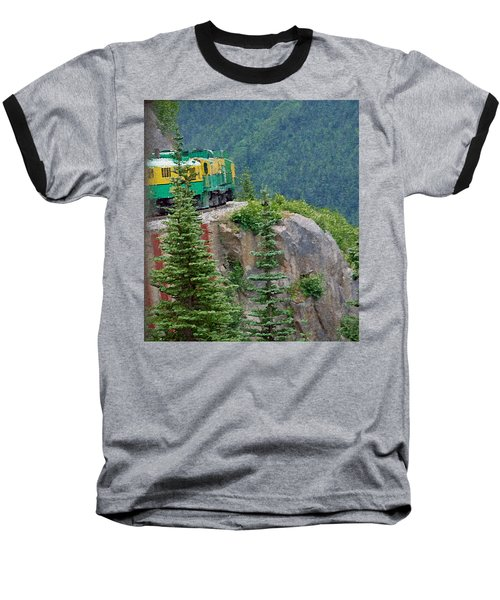 White Pass Train Alaska - Canada Baseball T-Shirt