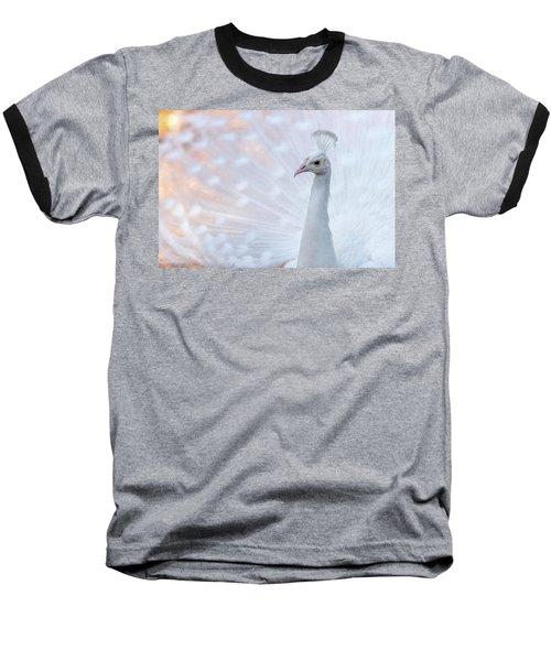 Baseball T-Shirt featuring the photograph White Peacock by Sebastian Musial