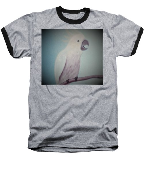 White Peacock Baseball T-Shirt