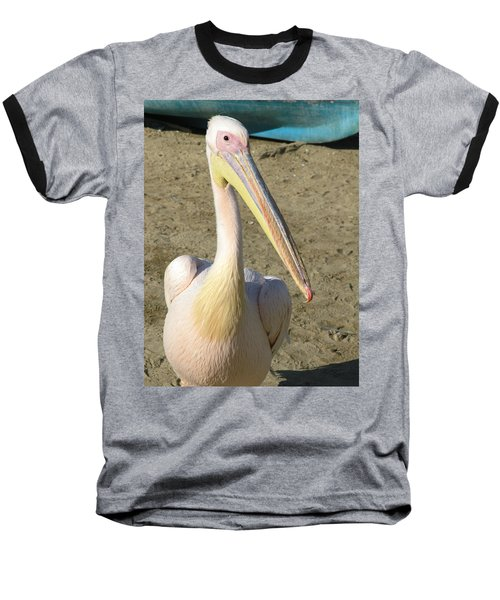 White Pelican Baseball T-Shirt by Sally Weigand
