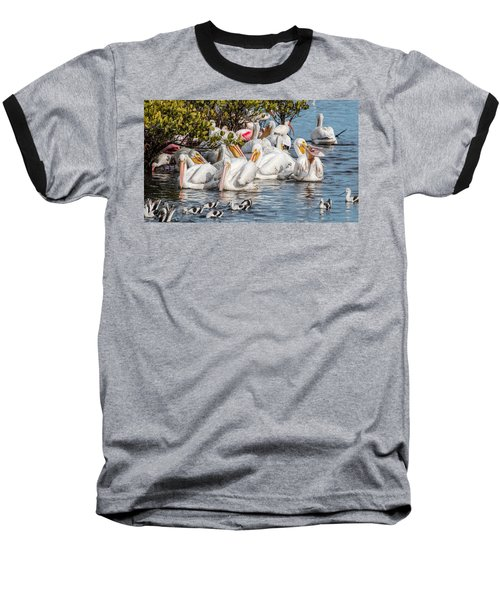 White Pelicans And Others Baseball T-Shirt