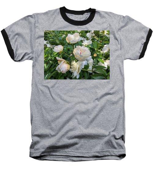White Peonies In North Carolina Baseball T-Shirt