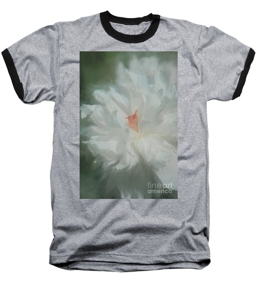 Baseball T-Shirt featuring the photograph White Peony by Benanne Stiens