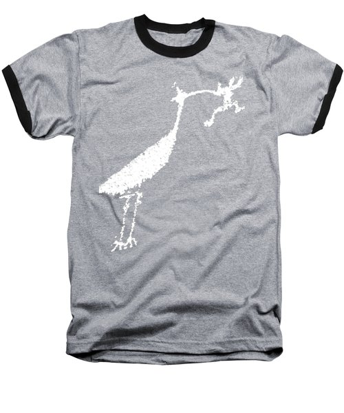 Baseball T-Shirt featuring the photograph White Petroglyph by Melany Sarafis