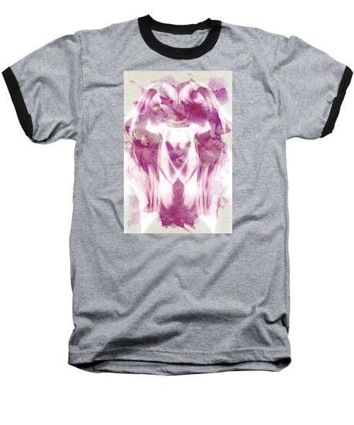 White Pi Flower Baseball T-Shirt by Andrea Barbieri