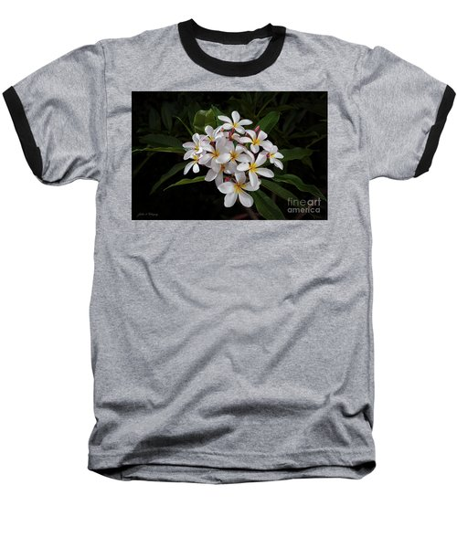 White Plumerias In Bloom Baseball T-Shirt
