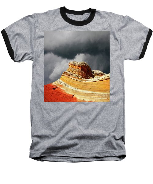 Baseball T-Shirt featuring the photograph White Pocket 35 by Bob Christopher