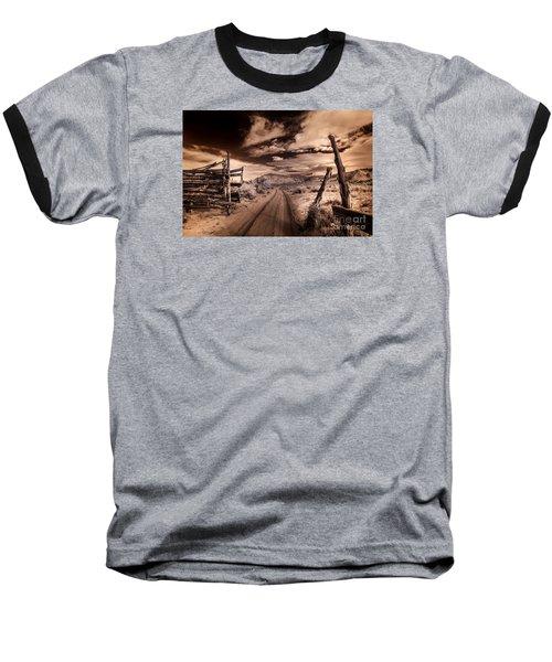 White Pocket Corral Baseball T-Shirt by William Fields